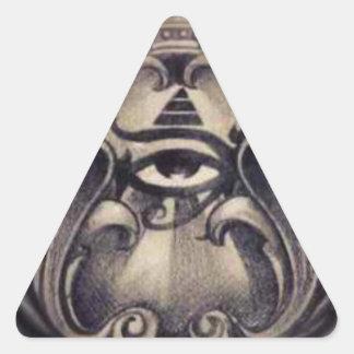 illuminati pegatina triangular