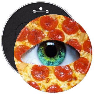 Illuminati Pizza 6 Inch Round Button