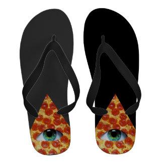 Illuminati Pizza Flip Flops