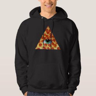 Illuminati Pizza Hooded Pullover