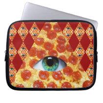 Illuminati Pizza Laptop Sleeve