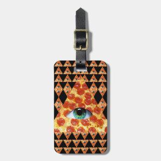 Illuminati Pizza Travel Bag Tag