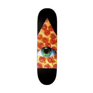 Illuminati Pizza Custom Skate Board