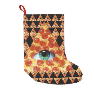 Illuminati Pizza Small Christmas Stocking