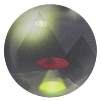 Illuminati Pyramid and UFO Plate