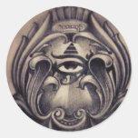 illuminati round sticker