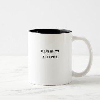 Illuminati sleeper Two-Tone coffee mug