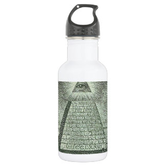 Illuminati - todo el ojo que ve botella de agua de acero inoxidable