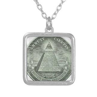 Illuminati - todo el ojo que ve colgante cuadrado
