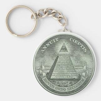 Illuminati - todo el ojo que ve llavero redondo tipo pin