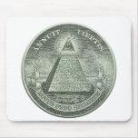 Illuminati - todo el ojo que ve tapetes de ratones