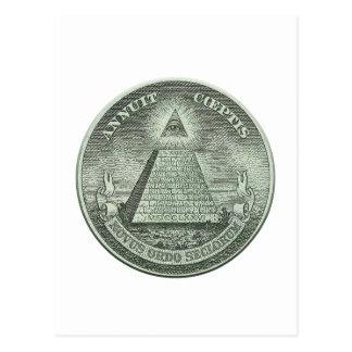Illuminati - todo el ojo que ve postal