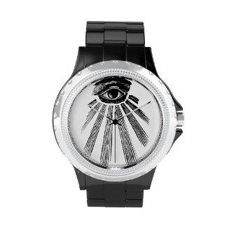 Illuminati todo el reloj del diamante artificial