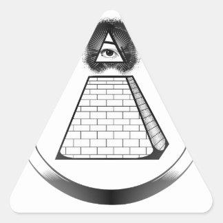illuminati triangle sticker