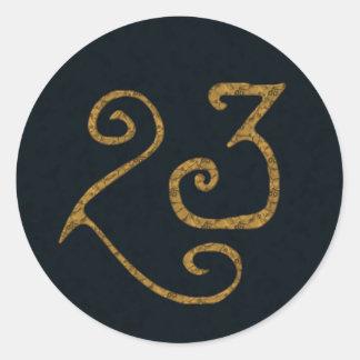 Illuminatigon 23 etiqueta redonda