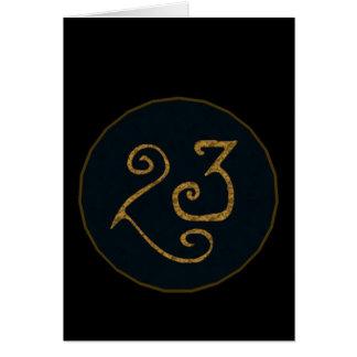 Illuminatigon 23 tarjeta de felicitación