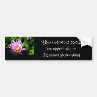 Illuminating Lotus Bumper Sticker