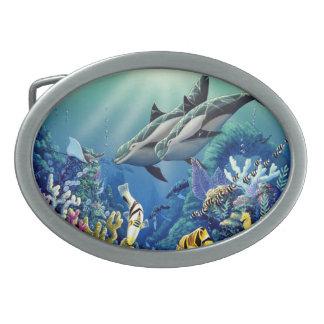 """""""Illumination"""" Dolphin Belt Buckle"""