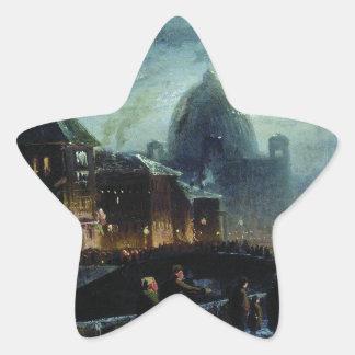 Illumination in St. Petersburg by Fyodor Vasilyev Star Sticker