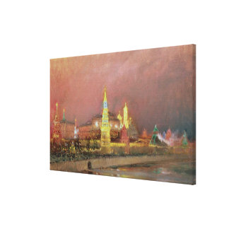Illumination in the Kremlin, 1896 Canvas Print