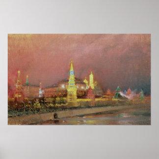 Illumination in the Kremlin, 1896 Print