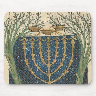 Illumination of a menorah, from mouse pad