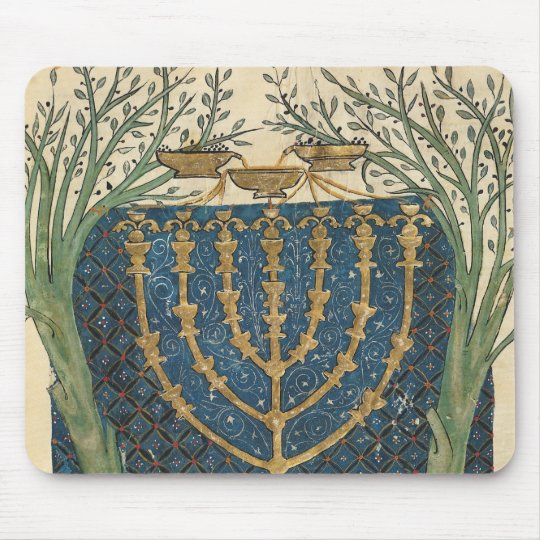 Illumination of a menorah, from mouse pad