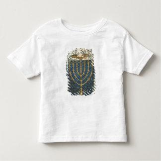Illumination of a menorah, from toddler t-shirt