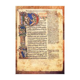 Illumination of Epistles of St Paul Renaissance Canvas Print