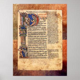 Illumination of Epistles of St Paul Renaissance Poster