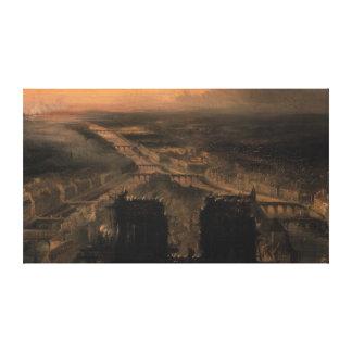 Illumination of Notre Dame Canvas Print