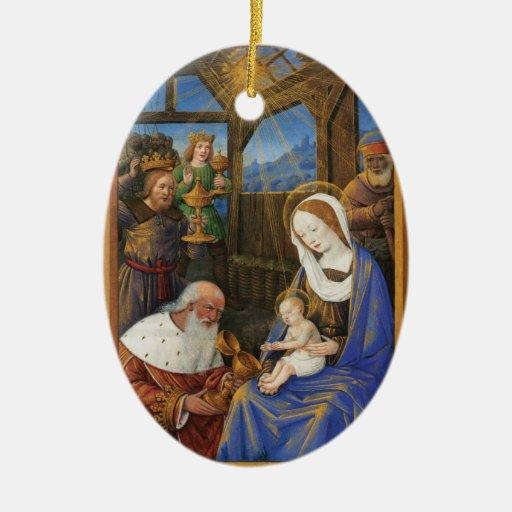 Illumination of the Adoration Christian Christmas Christmas Tree Ornaments