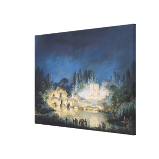 Illumination of the Belvedere at the Canvas Print