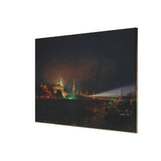 Illumination of the Kremlin, 1883 (oil on canvas) Canvas Print