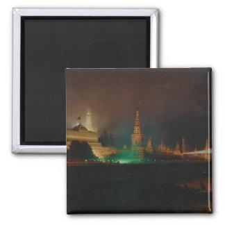 Illumination of the Kremlin, 1883 (oil on canvas) Magnet