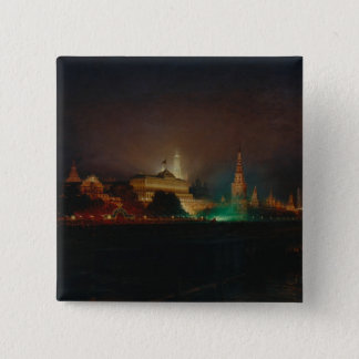 Illumination of the Kremlin, 1883 (oil on canvas) Pinback Button