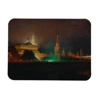 Illumination of the Kremlin, 1883 (oil on canvas) Rectangular Magnet