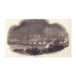 Illuminations of Cologne, 23rd August 1845 Canvas Print