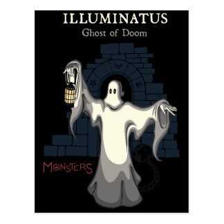 ILLUMINATUS, ghost of doom. (monsters series) Postcard