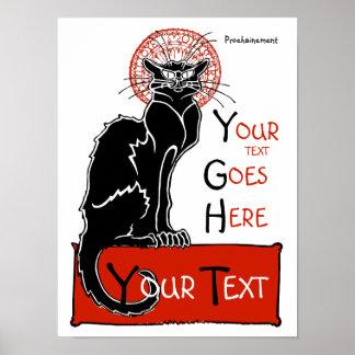 Illus - colour Le Chat Noir Poster