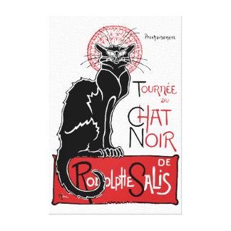 Illus Le Chat Noir Canvas Print
