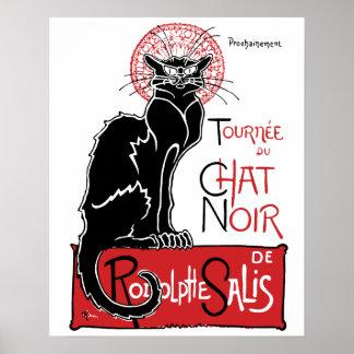 Illus Le Chat Noir Poster