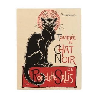 Illus Le Chat Noir Wood Wall Art
