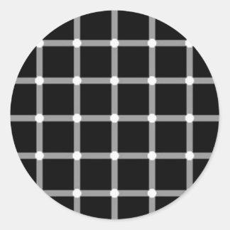 illusion-12 classic round sticker