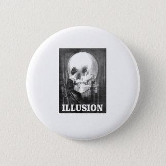 illusion bones and maiden pinback button