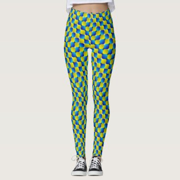 Beach Themed Illusion Checkers Leggings