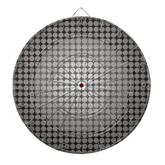 Illusion Circles Black White Gradient Dart Boards