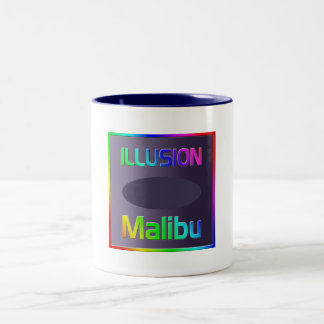 """""""ILLUSION Malibu"""" Cup! Two-Tone Coffee Mug"""