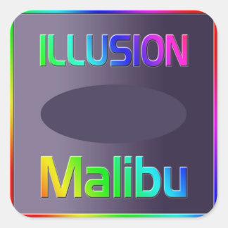 """""""ILLUSION Malibu"""" Sticker! Square Sticker"""