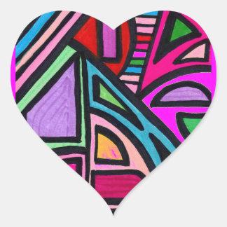 Illusion Maze Heart Sticker
